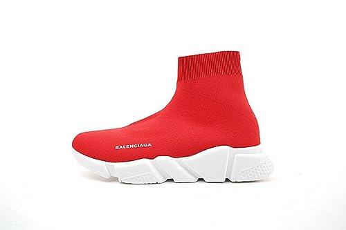 Balenciaga Speed Stretch-Knit Mid Trainers Rouge Zapatillas de Gimnasia para Hombre Mujer: Amazon.es: Zapatos y complementos