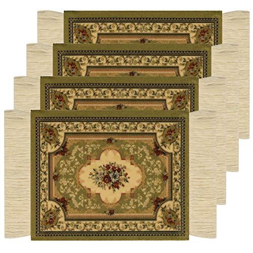 Poromoro Persian/Oriental Carpet/Rug Style Coaster/Mat - Set of Coasters (M, 4pcs)