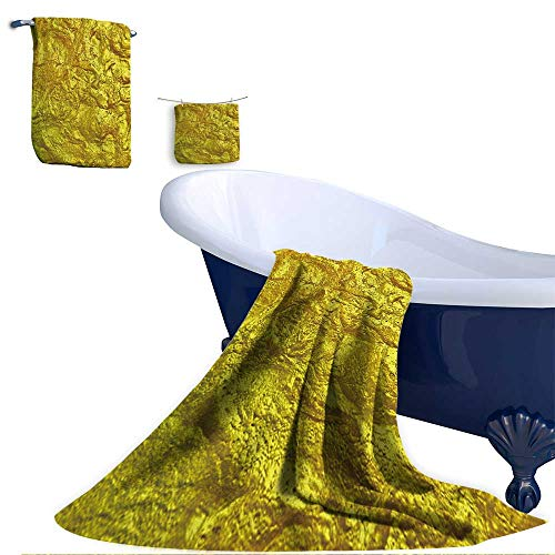 Leigh home 3 Piece Bath Towel Set, Luxury Golden Texture Hi res Background. Super Soft & Absorbent Fade Resistant Cotton Towels