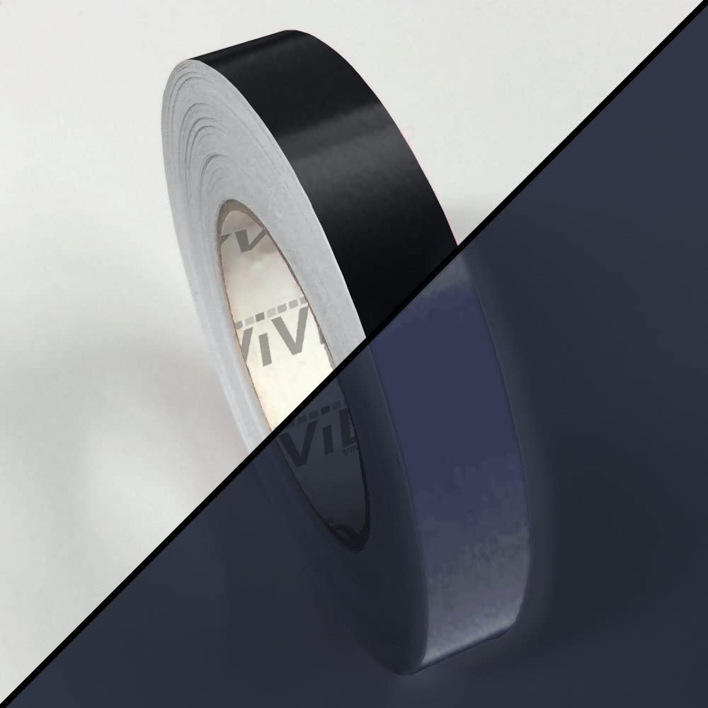 VViVID Black Reflective Air-Release Adhesive Vinyl Tape Roll 2 x 15ft