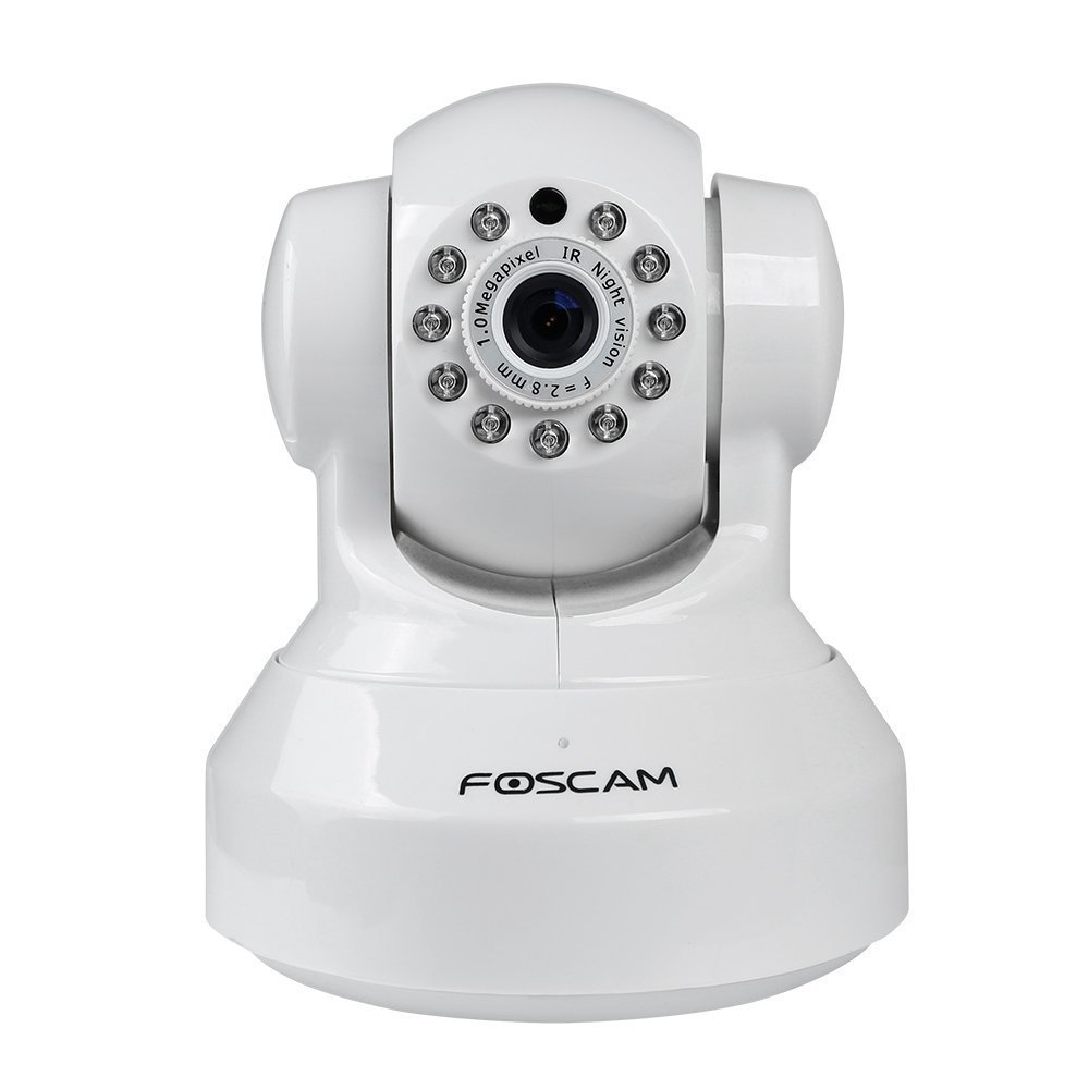 Foscam FI9816P Plug and Play 720P HD H.264 Wireless IP Camera, with Pan and Tilt, Motion Detection, Night Vision, a 70 Degree Viewing Angle, and Smart Phone Connectivity (White)