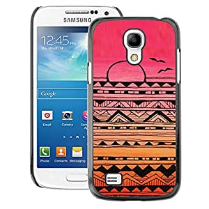 Supergiant (Indian Native American Pattern Pink Sunset) Impreso colorido protector duro espalda Funda piel de Shell para Samsung Galaxy S4 Mini i9190 (NOT S4)