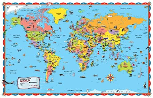 Rand mcnally kids illustrated world wall map rand mcnally rand mcnally kids illustrated world wall map rand mcnally 9780528942259 amazon books gumiabroncs Image collections