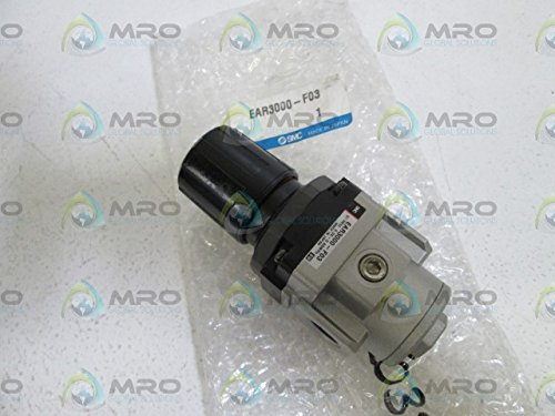 SMC EAR3000-F03 Pneumatic Regulator w/ 3 Port Lock Out Valve and Pressure Switch T114627