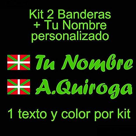 Vinilin Vinilo Bandera Pais Vasco (Ikurriña) + tu Nombre - Bici ...