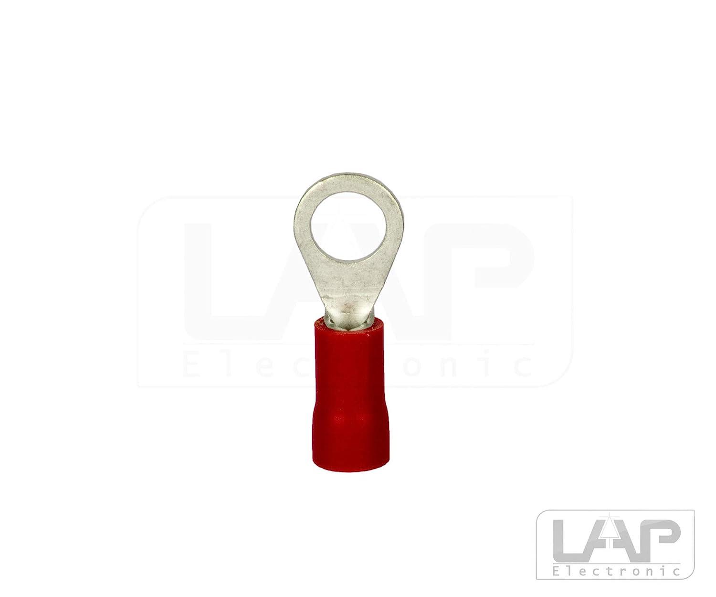 0,5-1,5mm/² M3 Rot, 10 St/ück Ringkabelschuhe Ring/ösen DIN Kabelschuhe Verbinder