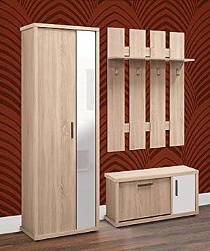 Liza moderno Juego de muebles de pasillo armario con espejo ...