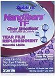 NanoTears TF Preservative Free Clear Emollient Lubricant Gel Eye Drops, 32 Single Use Vials