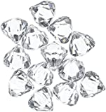 Acrylic Clear Ice Rock Diamond Crystals Treasure Gems for Table Scatters, Vase Fillers, Event, Wedding, Arts & Crafts, Birthday Decoration Favor (60 Pieces) by Super Z Outlet®