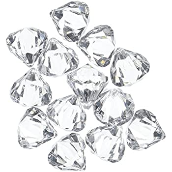 Amazon Com Acrylic Clear Ice Rock Diamond Crystals Treasure Gems