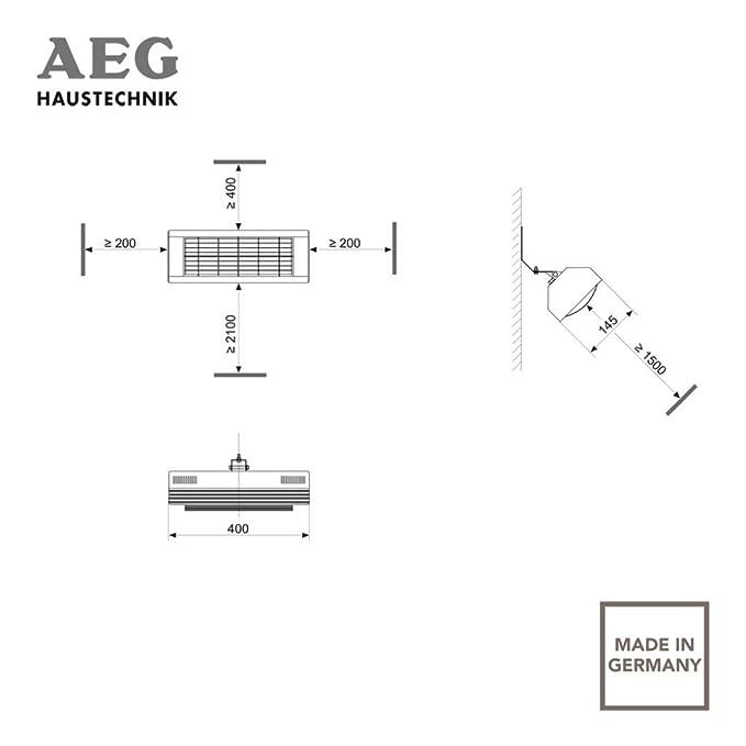 AEG 229952 IR Premium Plus 2020 - Estufa por infrarrojos de onda corta (2000 W, 230 V, IP 20), color blanco: Amazon.es: Hogar