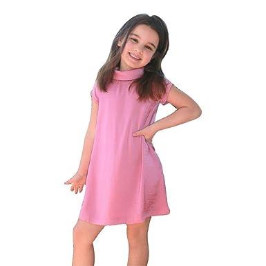 dd5b12d33 Amazon.com  A.BIRD Little Girls Rich Orchid Stylish Collar Short ...