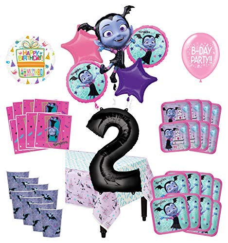 Mayflower Products Vampirina 2nd Birthday Party Supplies 8 Guest Decoration Kit and Balloon -