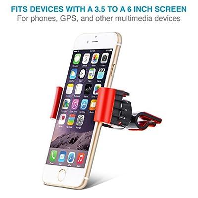 Aduro U-Grip Phone Car Mount (Air Vent) Swivel Universal Smartphone Holder for Your Car (Blue)