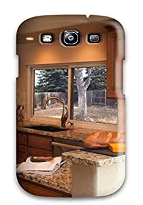 Premium Warm Colors Sleek Finishes In Transitional Kitchen Back Cover Snap On Case For Galaxy S3