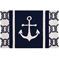 C&F Home Hooked Anchor Coastal Parfait Rug, Blue