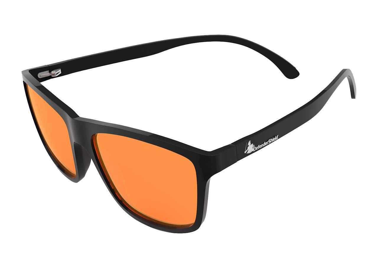 DefenderShield Blue Light Blocking Glasses for Computer, Mobile, Gaming, Sleep - Anti Eyestrain, Headache - Flex Series
