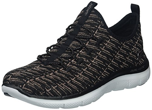 Appeal Flex Baskets insights Black 0 2 Rose Gold Femme Skechers p5qwx1aq