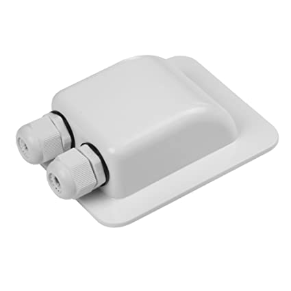 2019 New Abs Solar Rv Yacht Stand Roof Duct Cable Entry Double Hole Round Junction Box White To Be Distributed All Over The World Automobiles & Motorcycles Atv,rv,boat & Other Vehicle