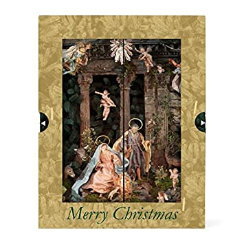 christmas cards greeting cards religious christian holiday cards boxed set pop up nativity 8 w