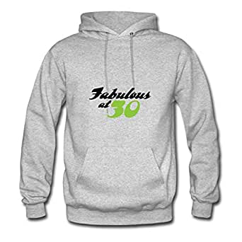 Women Fabulous At 30 (dd)++ Personalized Different Cotton Grey Hoody X-large