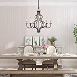 Lampundit 6-Light Farmhouse Chandelier for Dining