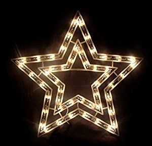 Amazon Com Sienna 17 Quot Clear Lighted Star Christmas Window