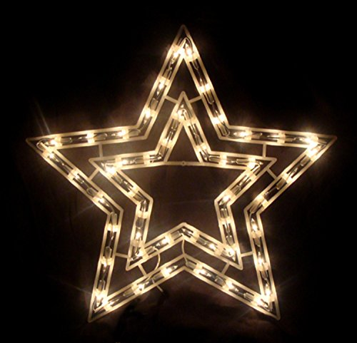 """Sienna 17"""" Pure Lighted Star Christmas Window Silhouette Decoration"""