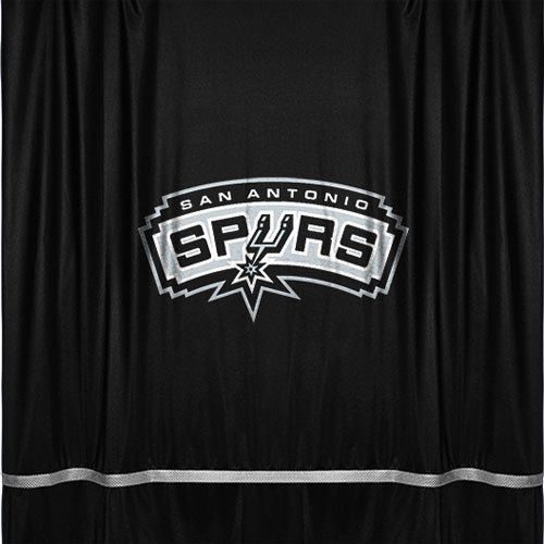 San Antonio Spurs Jersey Material Shower Curtain by Sports Coverage
