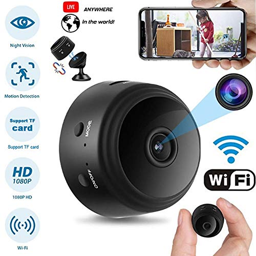 🥇 OVEHEL Spy Camera Wireless Hidden HD 1080P Small Security Video Camera Mini Nany Cam with Night Vision and Motion Activated Indoor Use Security Cameras Surveillance Cam for Car Home Office