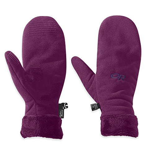Outdoor Research Women's Fuzzy Mitts Orchid S & Cap Bundle