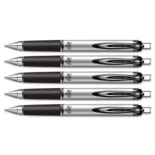 Uni-ball Impact RT Retractable Bold Point Gel Pens, 5 Black Ink Pen (65870) (Retractable Rt Gel Pen Impact)