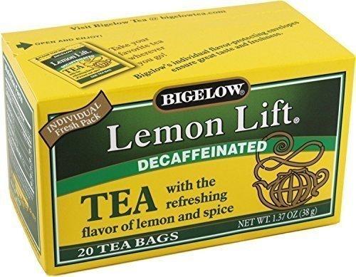 (Bigelow Lemon Lift Decaffeinated Black Tea 20 ea (Pack of 3),1.37Oz(38g))