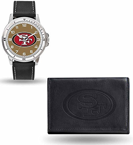 Nfl Mens Jewelry - Rico NFL Men's Watch and Wallet Set WTWAWA1901, San Francisco 49ers