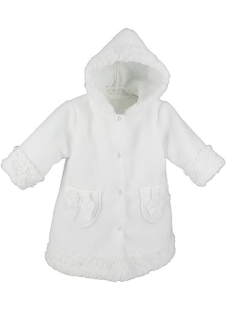 Abrigo Niña Bebé, Color blanco blanco 6 Meses