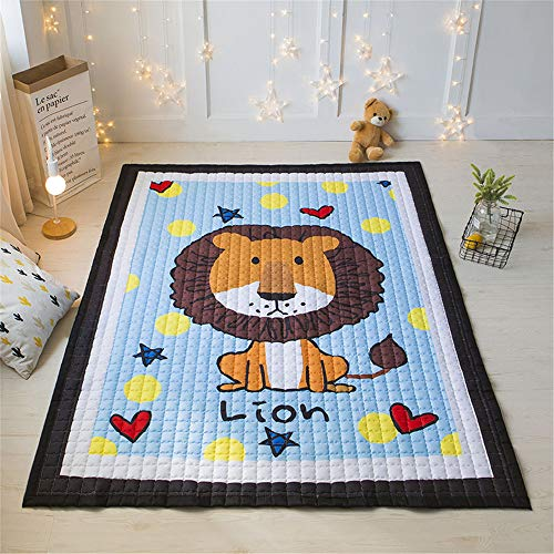 IHEARTYOU Baby Crawling Mat Cute Animal Play Carpet Children Bedroom Decor Living Room Rugs (Lion)