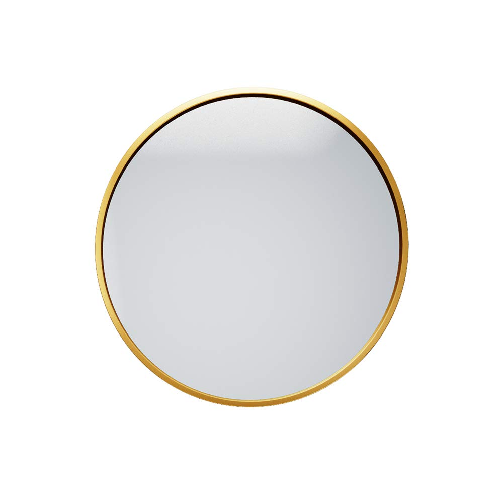 gold 70CM Bathroom Round Mirror Wall Mount Hotel Vanity Mirror Beauty Mirror