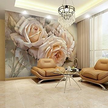 Yosot Benutzerdefinierte Blume Wandbilder Rose 3D Tapete Fototapeten ...