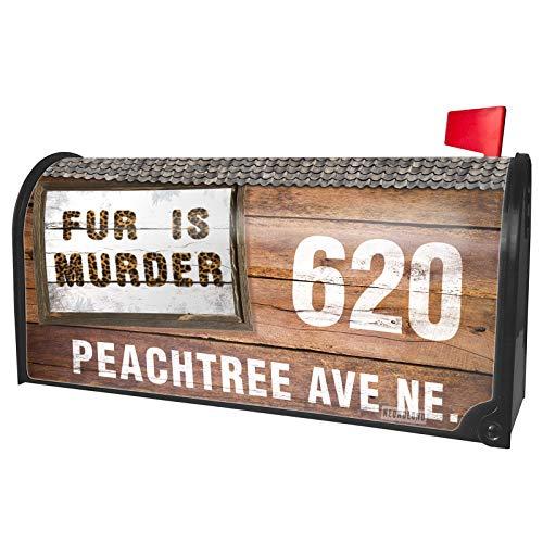 NEONBLOND Custom Mailbox Cover Fur is Murder Cheetah Cat Animal -