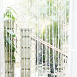 Simple Gift For Best Friends Curtain Line Curtain Heart Tassel String Door Curtain Window Room Divider (White 1x2M)
