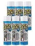 Flex Seal Spray Rubber Sealant Coating, 14-oz, Brite (6 Pack)