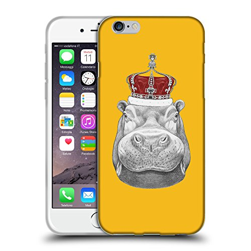 GoGoMobile Coque de Protection TPU Silicone Case pour // Q05260602 hippopotame ambre // Apple iPhone 6 PLUS 5.5""