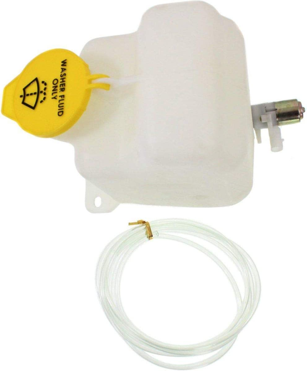 Single Pump CH1288143 New Windshield Washer Tank For 1997-2002 Jeep Wrangler Assembly With Pump And Cap