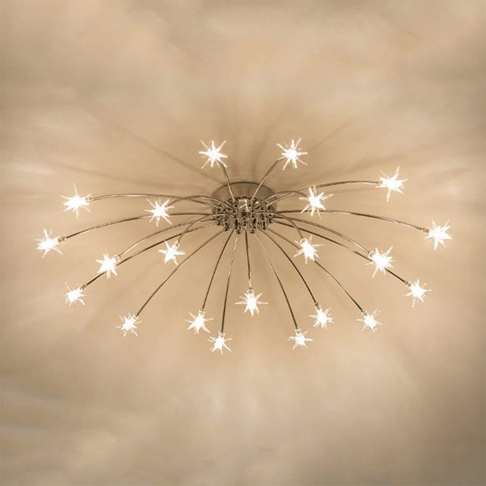JIANGJIE Plafonnier LED Plafonnier /Étoil/é Ciel /Éclairage Cr/éatif Simplicit/é Convient pour Chambre Enfantss Room Restaurant Room Dress Up,21Lights