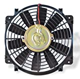 Flex-a-lite 108 Black 10'' Trimline Electric Fan (reversible)