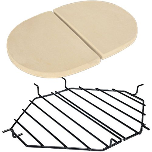 Primo Heat Deflector Plates PRM324 & Roaster Drip Pan Racks PRM333 ()
