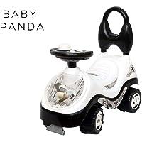 Sita Ram Retails Baby Panda with Assorted Color & Design Joyful Ride-on Rider,Magic Car,Swing car,Panda Car for Kids (Black & White Color)