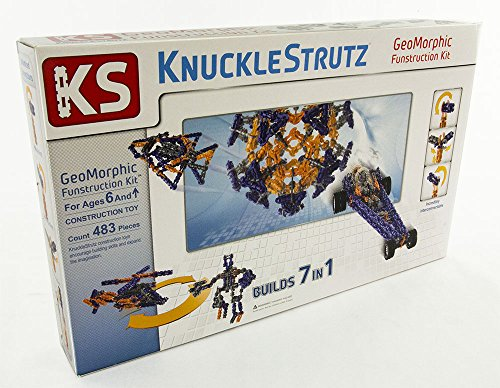 (KnuckleStrutz 7 in 1 GeoMorphic Funstruction Building Educational Skills Kit   Expand Your Childs Imagination   483 Rotating & Twisting Pieces)