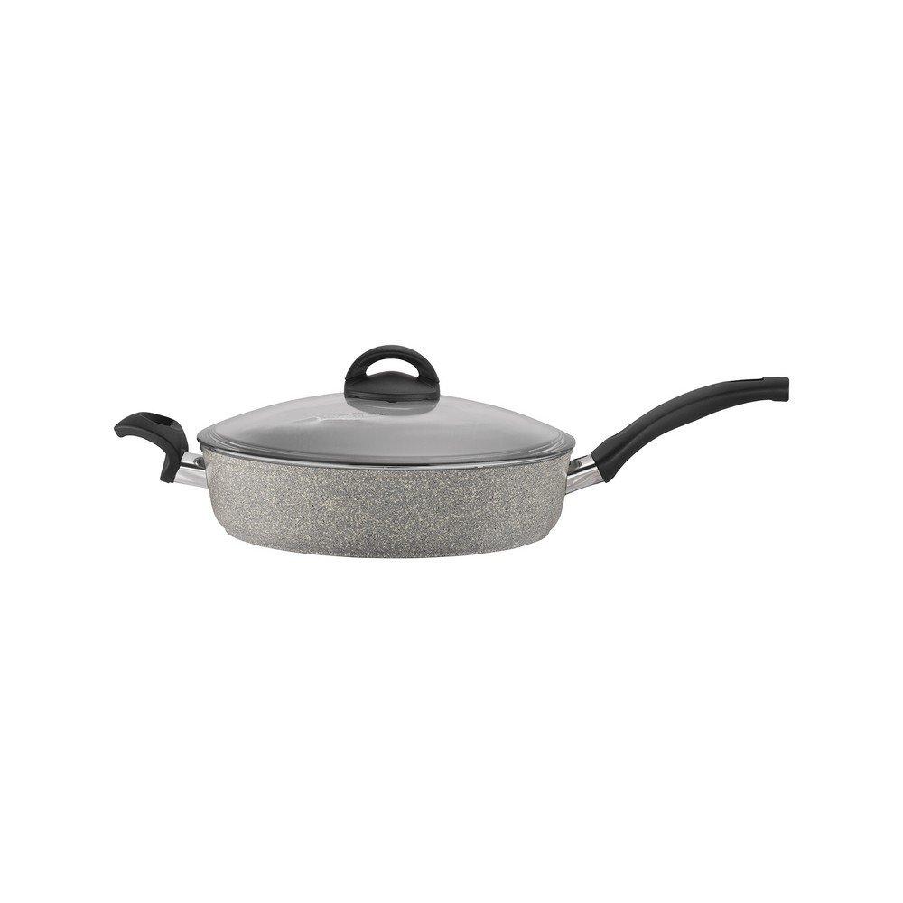 BALLARINI 75001-648 Parma Forged Aluminum Nonstick Saute Pan with Lid, 2.9 quart, Silver