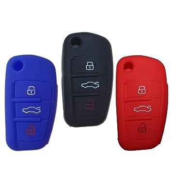 tuqiang® Funda para llave de coche para Audi A1 A3 A4 S1 S3 ...